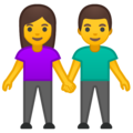 Man and Woman Holding Hands on Google Android 9.0