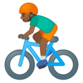 Man Biking: Medium-Dark Skin Tone on Google Android 9.0