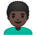 Man, Curly Haired: Dark Skin Tone on Google Android 9.0