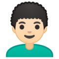 Man, Curly Haired: Light Skin Tone on Google Android 9.0
