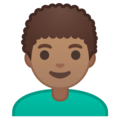 Man, Curly Haired: Medium Skin Tone on Google Android 9.0
