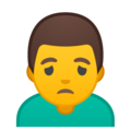 Man Frowning on Google Android 9.0