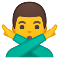 Man Gesturing No on Google Android 9.0