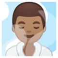 Man in Steamy Room: Medium Skin Tone on Google Android 9.0