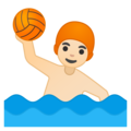 Man Playing Water Polo: Light Skin Tone on Google Android 9.0