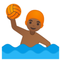 Man Playing Water Polo: Medium-Dark Skin Tone on Google Android 9.0