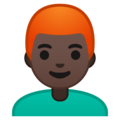 Man, Red Haired: Dark Skin Tone on Google Android 9.0