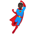 Man Superhero: Dark Skin Tone on Google Android 9.0