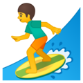 Man Surfing on Google Android 9.0