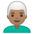 Man, White Haired: Medium Skin Tone on Google Android 9.0