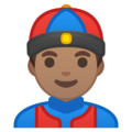 Man With Chinese Cap: Medium Skin Tone on Google Android 9.0