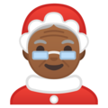 Mrs. Claus: Medium-Dark Skin Tone on Google Android 9.0