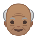 Old Man: Medium Skin Tone on Google Android 9.0
