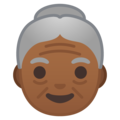 Old Woman: Medium-Dark Skin Tone on Google Android 9.0