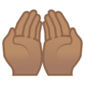 Palms Up Together: Medium Skin Tone on Google Android 9.0