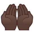 Palms Up Together: Dark Skin Tone on Google Android 9.0