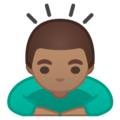 Person Bowing: Medium Skin Tone on Google Android 9.0