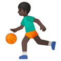 Person Bouncing Ball: Dark Skin Tone on Google Android 9.0