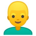 Blond-Haired Person on Google Android 9.0