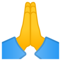 Folded Hands on Google Android 9.0