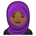 Person With Headscarf: Medium-Dark Skin Tone on Google Android 9.0