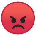 Pouting Face on Google Android 9.0