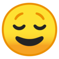 Relieved Face on Google Android 9.0
