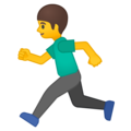 Person Running on Google Android 9.0