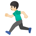 Person Running: Light Skin Tone on Google Android 9.0