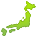 Map of Japan on Google Android 9.0