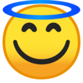 Smiling Face With Halo on Google Android 9.0