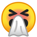 Sneezing Face on Google Android 9.0