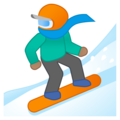 Snowboarder: Medium Skin Tone on Google Android 9.0