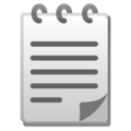 Spiral Notepad on Google Android 9.0