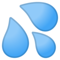 Sweat Droplets on Google Android 9.0