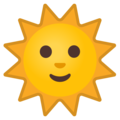 Sun With Face on Google Android 9.0