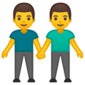 Two Men Holding Hands on Google Android 9.0