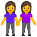 Two Women Holding Hands on Google Android 9.0