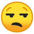 Unamused Face on Google Android 9.0