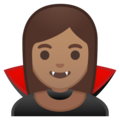 Vampire: Medium Skin Tone on Google Android 9.0