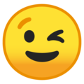 Winking Face on Google Android 9.0