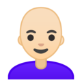 Woman, Bald: Light Skin Tone on Google Android 9.0