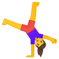 Woman Cartwheeling on Google Android 9.0