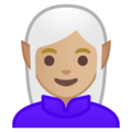 Woman Elf: Medium-Light Skin Tone on Google Android 9.0