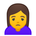 Woman Frowning on Google Android 9.0