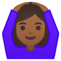 Woman Gesturing OK: Medium-Dark Skin Tone on Google Android 9.0