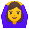Woman Gesturing OK on Google Android 9.0