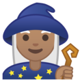 Woman Mage: Medium Skin Tone on Google Android 9.0