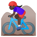 Woman Mountain Biking: Dark Skin Tone on Google Android 9.0