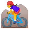 Woman Mountain Biking on Google Android 9.0